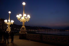 Streetlight in San Sebastian Royalty Free Stock Photo