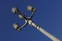 Streetlight in square Le Capitole Toulouse, Royalty Free Stock Images