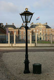 Streetlight 't Loo. Streetlight in front of the Roal Palace 't Loo The Netherland stock image