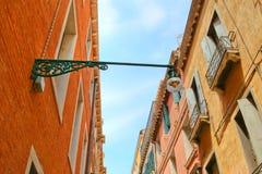 Streetlight in Venice Stock Images