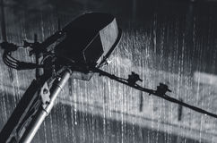 Streetlight view on the rain Royalty Free Stock Photography