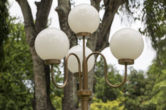 Streetlight w parku Obrazy Royalty Free