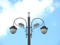 Streetlight wrought iron Stock Photography