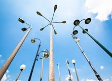 Streetlights. Group of streetlights - nice background Stock Photography