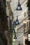 Streetlights. Decrotive streetlmaps in Naples royalty free stock photos