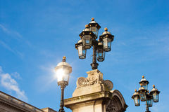 Streetlights in front of the Buckingham Palace, London. Royalty Free Stock Photos