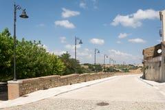 Streetlights i Genzano di Lucania Basilicata italy Royaltyfria Bilder