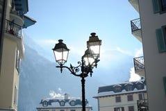Streetlights marznący Zdjęcie Royalty Free