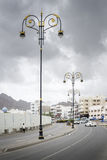 Streetlights in Muscat Stock Photo
