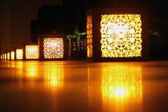 Streetlights at night Stock Image