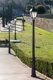 Streetlights in the park Royalty Free Stock Photo