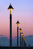 Streetlights in a row Stock Images
