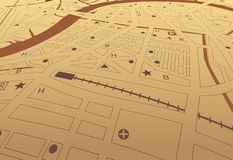 Streetmap del Brown Fotografia Stock