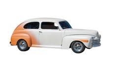 Streetrod blanc accentué orange Photo libre de droits