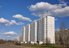 Streets. The city of Yaroslavl. Prefabricated houses. Russia royalty free stock photos