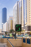 Streets of Abu Dhabi, capital city of United Arab Emirates. Stock Images