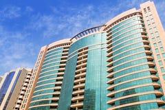 Streets of Abu Dhabi, capital city of United Arab Emirates. Royalty Free Stock Photos