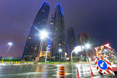 Streets of Abu Dhabi at night, UAE Stock Photography