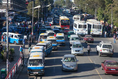 The streets of Addis Ababa Ethiopia Royalty Free Stock Images