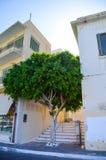 Streets of Agios Nikolaos Royalty Free Stock Images