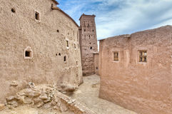 Streets of Ait Ben Haddou at Morocco. Narrow Ait Ben Haddou streets at Morocco stock photos