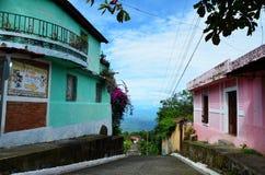 Streets of Alegría village, El Salvador Royalty Free Stock Photo