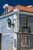 Streets in Alfama in Lisbon, Portugal Stock Images