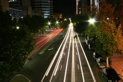 Streets are alive. Streets of Adelaide at night stock photography