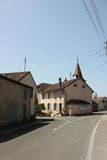 Streets of Allaman. Allaman is a municipality in the district of Morges in the canton of Vaud in Switzerland Royalty Free Stock Photo