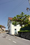Streets of Allaman. Allaman is a municipality in the district of Morges in the canton of Vaud in Switzerland Royalty Free Stock Photos