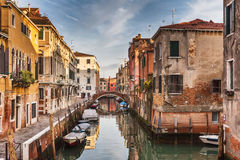 Streets along the Venetian canal Royalty Free Stock Image
