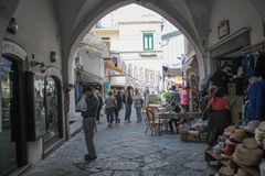 The streets of Amalfi Royalty Free Stock Photography