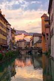 In the streets of amazing Annecy Royalty Free Stock Images