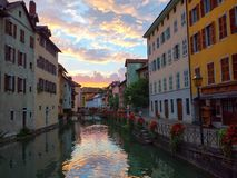 In the streets of amazing Annecy Royalty Free Stock Photos