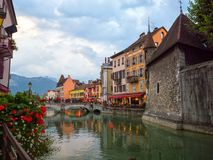In the streets of amazing Annecy Royalty Free Stock Photography