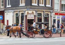 The streets of Amsterdam. Royalty Free Stock Photo