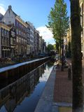 Streets of Amsterdam Netherlands - royalty free stock photos