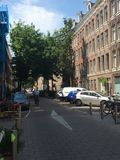 Streets of Amsterdam. Street in Amsterdam Royalty Free Stock Photo