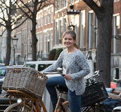Streets of Amsterdam stock images