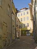 Streets of ancient city. Streets of ancient Tallinn, capital of Estonia, Baltic Republic stock photography