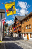 In the streets of Andermatt Royalty Free Stock Photos