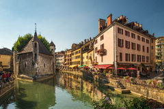 Streets of Annecy on a summer day. Stock Photo