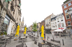 At the Streets of Antwerpen Royalty Free Stock Photos