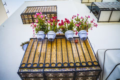 Streets and architecture along the Mediterranean coastal town in Stock Photography