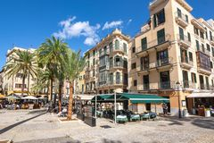 Streets and architecture of Palma de Mallorca, Balearic islands, Spain stock image