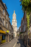 In the streets in Avranches Royalty Free Stock Image