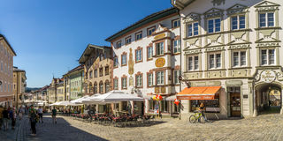 In the streets of Bad Tolz - Germany Stock Photography
