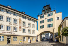 In the streets of Bad Tolz - Germany Royalty Free Stock Photo
