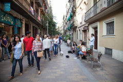 Streets of Barcelona royalty free stock photos