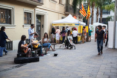Streets of Barcelona Royalty Free Stock Photos